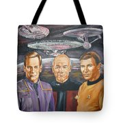 Star trek tribute Enterprise Captains Tote Bag by Bryan Bustard