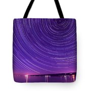 Starry Night Of Cayuga Lake Tote Bag by Paul Ge