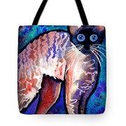 Startled Cornish Rex Cat Tote Bag by Svetlana Novikova