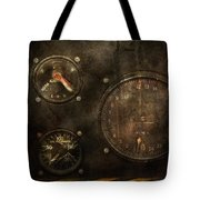 Steampunk - Check Your Pressure Tote Bag by Mike Savad