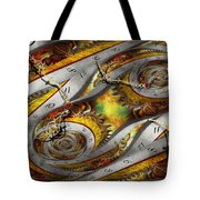 Steampunk - Spiral - Space Time Continuum Tote Bag by Mike Savad