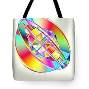 Steampunk Gyroscopic Rainbow Tote Bag by Michael Skinner