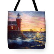 Steppingstones Light Tote Bag by Marguerite Chadwick-Juner