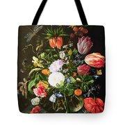 Still Life Of Flowers Tote Bag by Jan Davidsz de Heem