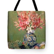Still Life Of Fruits And Flowers Tote Bag by Pierre Auguste Renoir