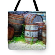 Still Life With Barrels Tote Bag by RC DeWinter