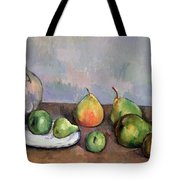 Still Life With Pitcher And Fruit Tote Bag by Paul Cezanne