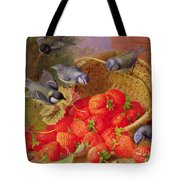 Still Life With Strawberries And Bluetits Tote Bag by Eloise Harriet Stannard