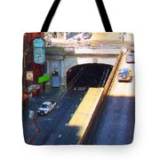 Stockton Street Tunnel in Heavy Shadow . Long Version Tote Bag by Wingsdomain Art and Photography