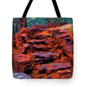 Stone Steps In Autumn Tote Bag by Jeff Kolker