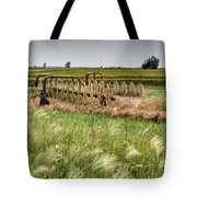 Storm Across The Prairie Tote Bag by Douglas Barnett