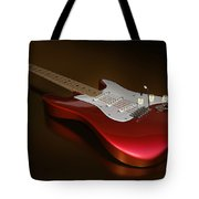 Stratocaster On A Golden Floor Tote Bag by James Barnes