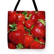 Strawberries Tote Bag by Carlos Caetano