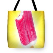 Strawberry Popsicle Tote Bag by Carlos Caetano
