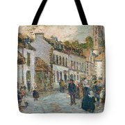Street In Pont Aven Tote Bag by Childe Hassam