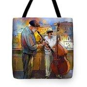 Street Musicians In Prague In The Czech Republic 01 Tote Bag by Miki De Goodaboom