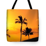 Stretching At Sunset Tote Bag by Dana Edmunds - Printscapes
