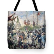 Study For Le 14 Juillet 1880 Tote Bag by Alfred Roll