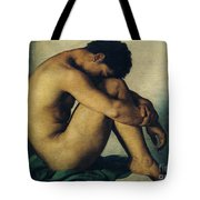 Study Of A Nude Young Man Tote Bag by Hippolyte Flandrin