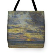 Study of the Sky with Setting Sun Tote Bag by Eugene Louis Boudin