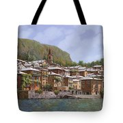 Sul Lago Di Como Tote Bag by Guido Borelli