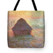 Sun In The Mist Tote Bag by Claude Monet