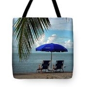 Sunday Morning At The Beach In Key West Tote Bag by Susanne Van Hulst