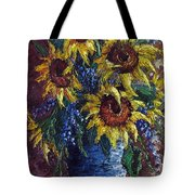 Sunflower Bouquet Tote Bag by David G Paul