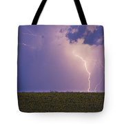 Sunflower Fields Lightning Storm Nature Print Tote Bag by James BO  Insogna