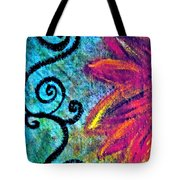 Sunny day purple Tote Bag by Gwyn Newcombe