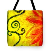 Sunny Day Red Tote Bag by Gwyn Newcombe