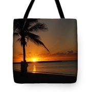 Sunrise In Key West Fl Tote Bag by Susanne Van Hulst