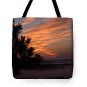 Sunrise Over The Mist Tote Bag by Douglas Barnett
