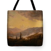 Sunset After A Storm In The Catskill Mountains Tote Bag by Jasper Francis Cropsey