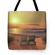 Sunset Beach Tote Bag by Corey Ford