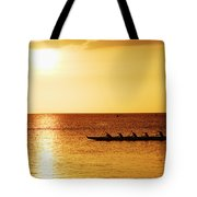 Sunset Canoe Tote Bag by Vince Cavataio - Printscapes