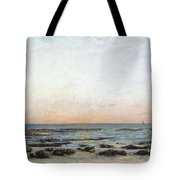 Sunset Tote Bag by Gustave Courbet