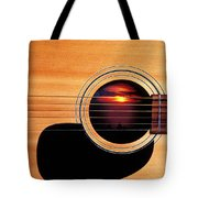 Sunset In Guitar Tote Bag by Garry Gay