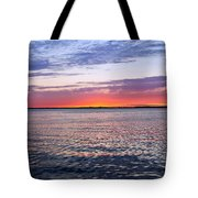 Sunset On Barnegat Bay I - Jersey Shore Tote Bag by Angie Tirado