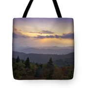 Sunset On The Blue Ridge Parkway Tote Bag by Rob Travis