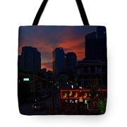 Sunset Over Nashville Tote Bag by Susanne Van Hulst