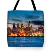 Sunset Over Philadelphia Tote Bag by Louis Dallara