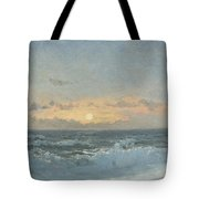 Sunset Over The Sea Tote Bag by William Pye