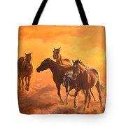 Sunset Run Tote Bag by Jana Goode