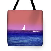 Sunset Sailboat Tote Bag by Bill Cannon