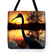 Sunset Silhouette Tote Bag by Debra and Dave Vanderlaan