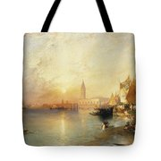 Sunset Venice Tote Bag by Thomas Moran