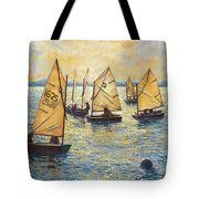 Sunwashed Sailors Tote Bag by Marguerite Chadwick-Juner