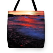 Superior Sunrise Tote Bag by Larry Ricker