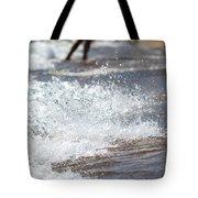 Surf Crashing Tote Bag by Lisa Knechtel